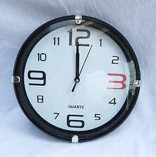 Retro 1960s Design Wall Clock - Black or White Options - BNIB