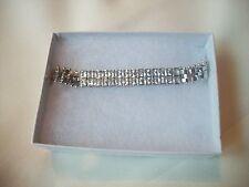 Glamour Silvertone & Austrian Crystal Nolan Miller Signed Bracelet Luxury &