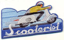 Scooterist Patch, Scooter rider, Motorized Scooter, Badge, Mod, Racing