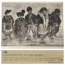 Heinrich Zille org Heliogravüre Strassenmädchen und Ihre Freunde 1905