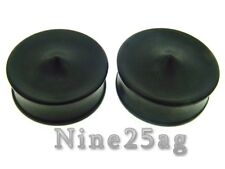 PAIR 2' INCH 50MM CONCAVE SPIKE EBONY WOOD PLUGS