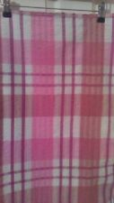 "Vintage Multi pink and white Seersucker Tablecloth 100% Cotton Approx 34""Sq"
