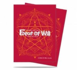 65 ULTRA PRO FORCE OF WILL DECK PROTECTOR SLEEVES - RED NEW