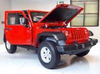Jeep Rubicon WRANGLER 2007 LGB 1:24 Maßstab detaillierte Druckguss Welly Modell