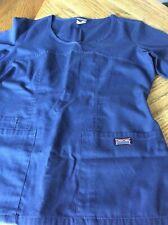 Cherokee Workwear Navy Scrub Top Size Xs Elastic Back