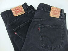 Levi's 550 Jeans Black 36 X 32 Relaxed Fit Straight Leg Denim Pants LOT OF 2