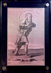 c1890 Engraved Music Playing Card by Gabinetto Armonico Filippo Buonanni Italy