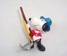 Figurine ancienne PVC Snoopy Fortsetzung type Schleich 6cm : pêcheur