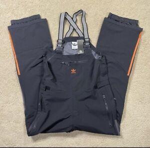 Adidas 3 Layer Bib Ski Pant Black/Black/Orange FJ7485 Men's Size Large NEW TAGS