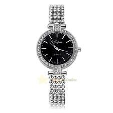 Lvpai Women Stainless Steel Bracelet Strap Bling Crystal Quartz Watch WristWatch