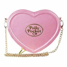 Official Licensed Ladies Polly Pocket Pink Heart Shaped Cross Body Bag Handbag