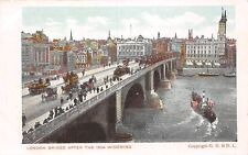 London Bridge after the 1904 Widening, ship, carriages, animated