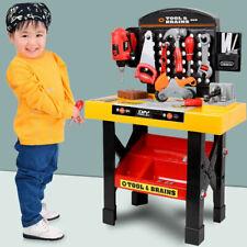 Boys Kids Childrens Role Play Builder Work Shop Tool Bench DIY Workbench & Parts