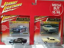 JOHNNY LIGHTNING 2 PACK 1967 CHEVY CAMARO & 1966 FORD FAIRLANE CLASSIC GOLD