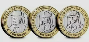 Moneda £ 2 libras Isle of Man 2019 , set 3 monedas