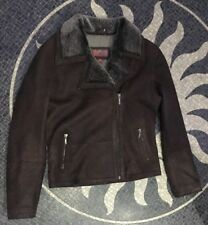 Ladies Soft Leather Brown Jacket By Helium Size 12