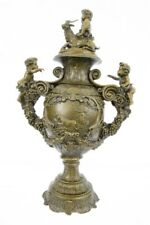 Cremation Garden Bronze Memorial Tribute Urn Cherubs Angels Chariots Sculpture