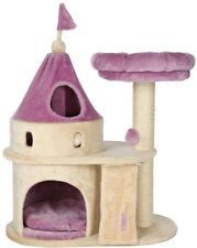 Cat Castle Beige Purple My Kitty Darling Soft Plush Inside And Out Scratch Post