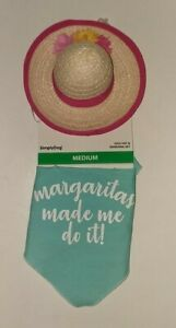 Simply Dog Dog Hat & Bandana Set - Margaritas Made Me Do It! - M / NWT