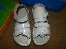 New Jumping Jacks White Leather Girls Sandals sz (12-12.5)  EU 30