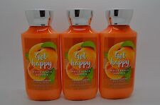 Bath Body Works Get Happy White Peach Sangria Lotion S/ 3 Full Size #147