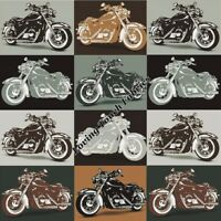 QUILTING TREASURES BIKER FOR LIFE 26019K MOTORCYCLE PATCH FABRIC PRICED @ 1/2 YD