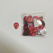 10 X Botones semicirculares de color rosa translúcido Acrílico Aprox 12mm 1 orificios estilo de caña