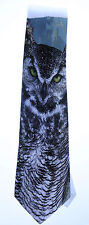 NEW! Great Horned Owl Novelty Neck Tie Animal 100% Polyester W2 Formal