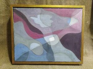 Mid century  Oil, Signed K., Manner of Paul Klee