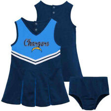 NFL Los Angeles Chargers Toddler Baby Infant Girls Cheer Set Dress Sz 12M