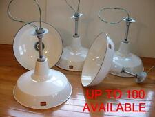 """(1) 40s Benjamin 16"""" Porcelain Industrial White Barn UL Light VTG Gas Station As"""