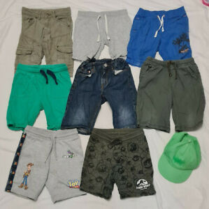 Boys Age 4-5 Years Shorts & Cap 9 Piece Bundle Jurassic World Toy Story