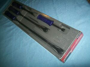 "NEW Snap-on™ Deep Purple 8"" 12"" 18"" 24"" Long STRIKing Prybar SET SPBS704ADP"