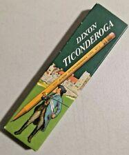Vintage WWII Era Dixon Ticonderoga 1386 Pencils - 1 doz. - #2 NOS rare -- 3868
