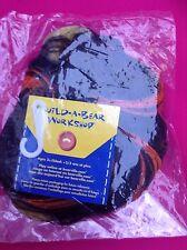 Build A Bear Rare Sealed Orange & Black Halloween Wig. Candy Corn Theme