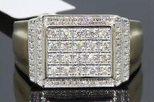10K YELLOW GOLD .63 CARAT MENS REAL DIAMOND ENGAGEMENT WEDDING PINKY RING BAND
