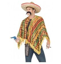 MEXICAN PONCHO INSTANT KIT WITH MOUSTACHE - COSTUME MELBOURNE LOCATION