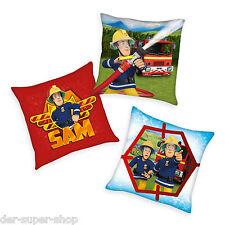 Feuerwehrmann Sam - Kissen Kinder Dekokissen Kuschelkissen Kopfkissen Feuerwehr