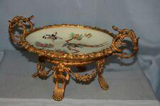 milieu de table vide poche coupe en porcelaine de chine avec monture