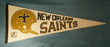 Vintage New Orleans Saints NFL Felt Pennant 1970's Single Bar Helmet