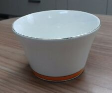 Vintage Art Deco Large China Sugar Bowl in Orange and White