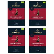 Dallmayr pyramidentee Rooibos Vanille bio 4er Pack pour 20 teeportion 2,5 g Thé ...