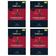 Pyramidentee Rooibos Vanille Bio 4 Tee Packung á 20 x 2,5g Dallmayr