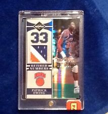 PATRICK EWING 1/1 PANINI VIP BLACK BOX 3 COLOR KNICKS PATCH LIMITED RETIRED #S