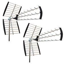 2 * 180 Mile HDTV Outdoor Amplified HD TV Antenna Digital V/UHF FM Radio XJ-450C