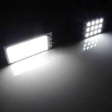 2x White 24 LED 5050 SMD 12V Car Interior Light Panel Bulb T10 Dome  Adapter