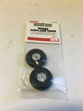 "Perfect Parts Model Airplane Rubber Balloon Tires Aluminum Wheels 1"" Diameter"