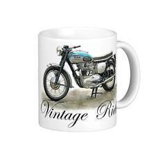 VINTAGE 1960 TRIUMPH BONNEVILLE 800cc   MOTOR BIKE   QUALITY 11oz  WHITE MUG