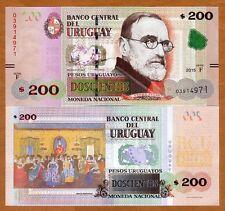 Uruguay, 200 Pesos Uruguayos, 2015 (2017), P-New, serie F, New Security UNC