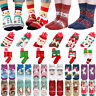 Women Girl Christmas Socks Santa Claus Stocking Filler Gift Kid Xmas Funny Socks